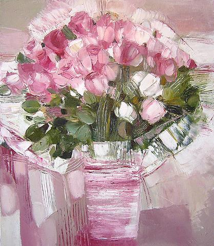 Diana Sadykova. Pink Bouquet. 2005. Canvas, oil