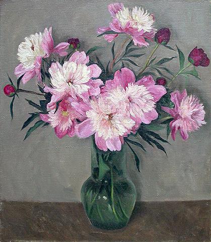 Serge Hudiakov. Peonies. 1996. Canvas, oil