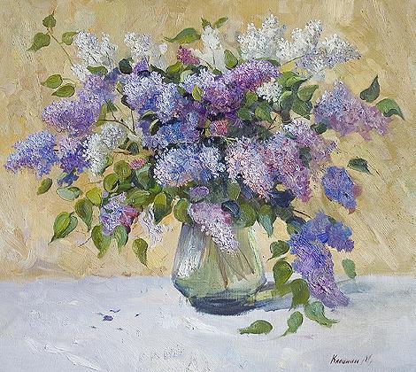 Mikhail Kalinin. Lilac. 2005. Canvas, oil